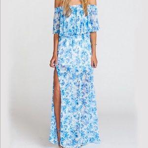 Show me your mumu off the shoulder floral dress